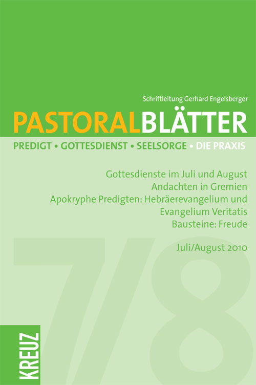 Pastoralblätter 7-8/2010