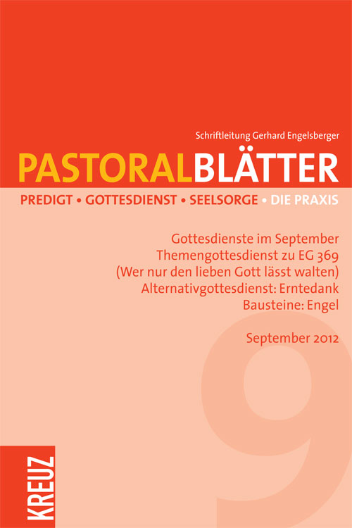 Pastoralblätter 9/2012