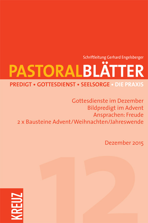 Pastoralblätter 12/2015