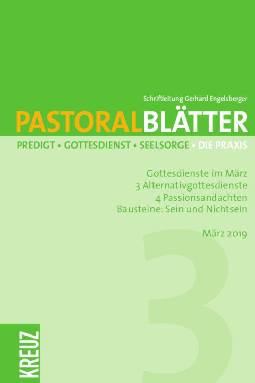 Cover Pastoralblätter 2019/03