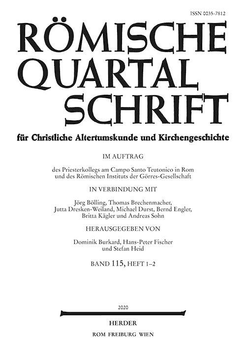 Römische Quartalschrift 2020/1-2