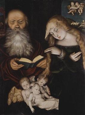 Hans Baldung Grien: Christi Geburt (1539) Bereitgestellt von der Staatlichen Kunsthalle Karlsruhe, die das Gemälde führt.