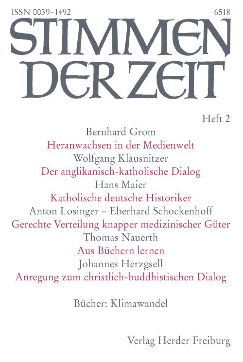 Stimmen der Zeit. Die Zeitschrift für christliche Kultur 135 (2010) Heft 2