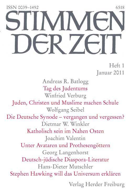Stimmen der Zeit. Die Zeitschrift für christliche Kultur 136 (2011) Heft 1