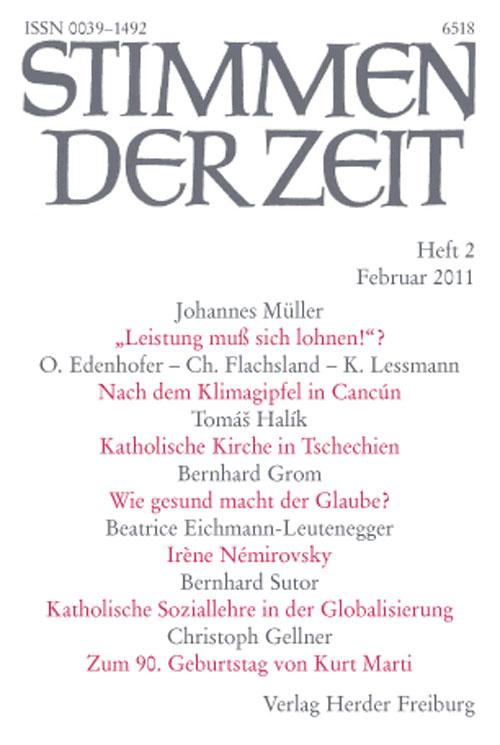 Stimmen der Zeit. Die Zeitschrift für christliche Kultur 136 (2011) Heft 2
