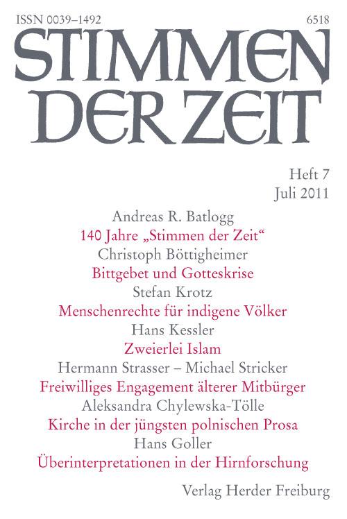 Stimmen der Zeit. Die Zeitschrift für christliche Kultur 136 (2011) Heft 7