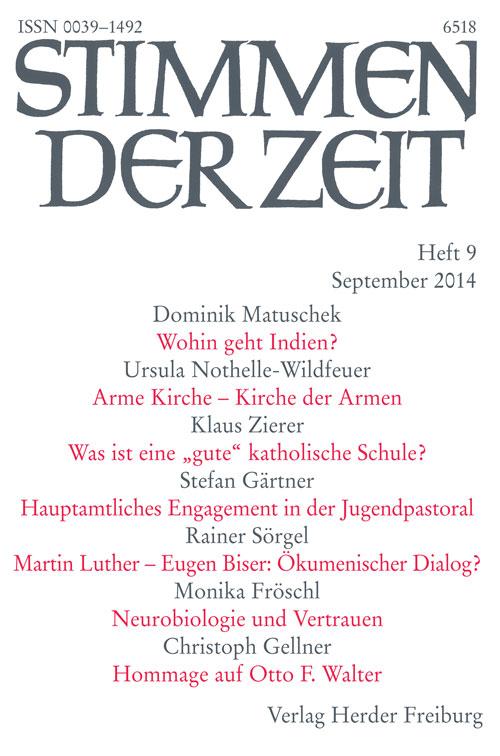 Stimmen der Zeit. Die Zeitschrift für christliche Kultur 139 (2014) Heft 9