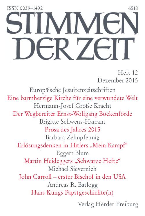 Stimmen der Zeit. Die Zeitschrift für christliche Kultur 140 (2015) Heft 12