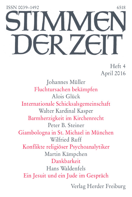 Stimmen der Zeit. Die Zeitschrift für christliche Kultur 141 (2016) Heft 4