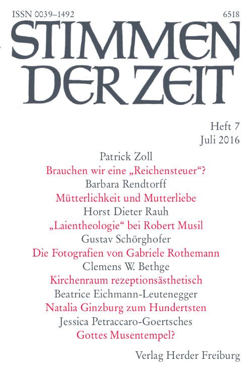 Stimmen der Zeit. Die Zeitschrift für christliche Kultur 141 (2016) Heft 7