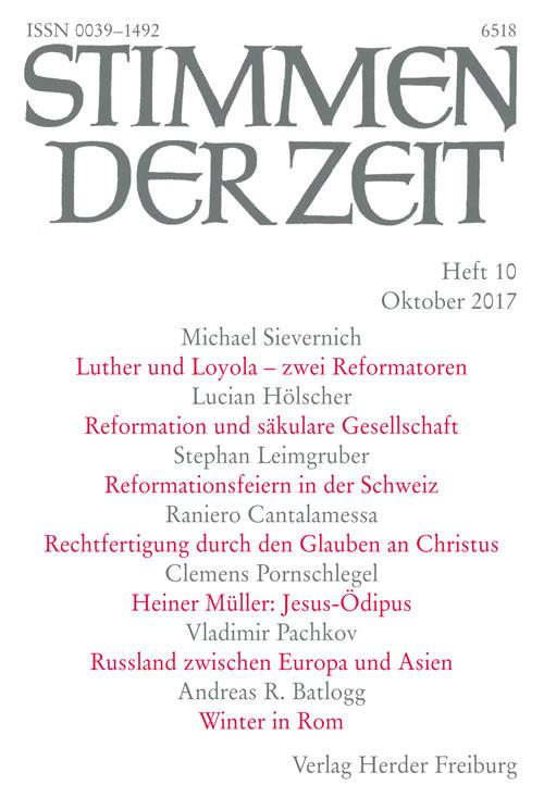 Stimmen der Zeit. Die Zeitschrift für christliche Kultur 142 (2017) Heft 10