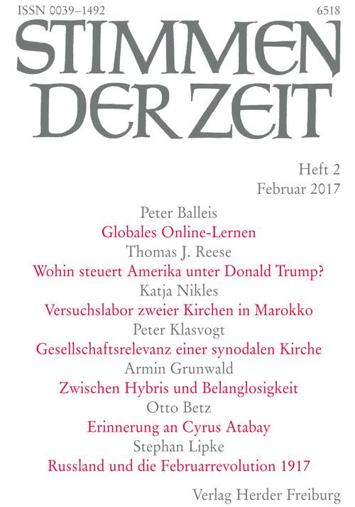 Stimmen der Zeit. Die Zeitschrift für christliche Kultur 142 (2017) Heft 2