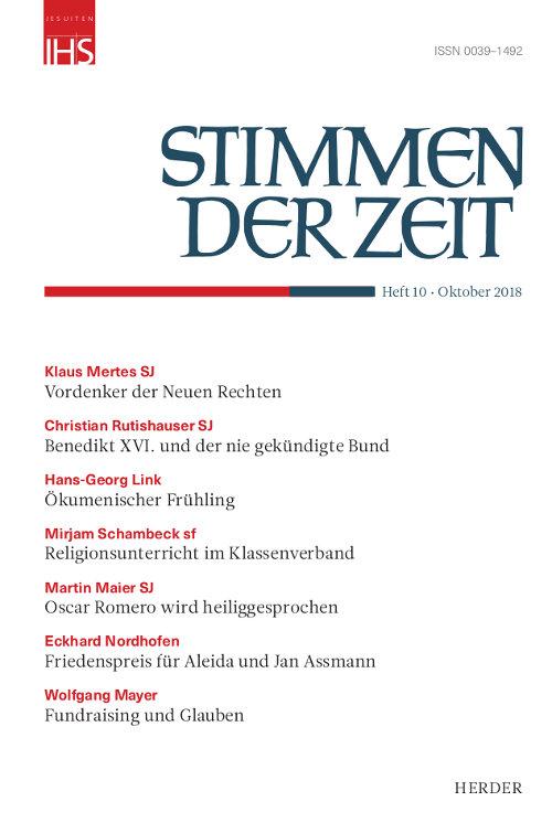 Stimmen der Zeit. Die Zeitschrift für christliche Kultur 143 (2018) Heft 10