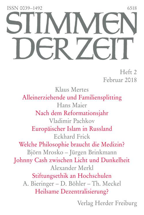 Stimmen der Zeit. Die Zeitschrift für christliche Kultur 143 (2018) Heft 2