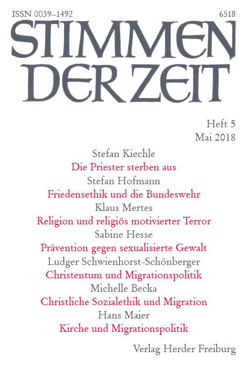 Stimmen der Zeit. Die Zeitschrift für christliche Kultur 143 (2018) Heft 5