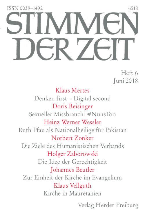 Stimmen der Zeit. Die Zeitschrift für christliche Kultur 143 (2018) Heft 6