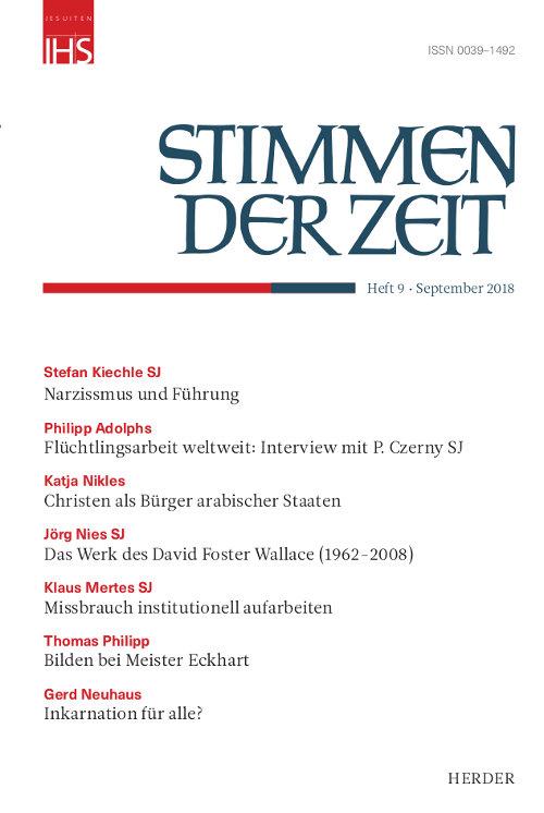 Stimmen der Zeit. Die Zeitschrift für christliche Kultur 143 (2018) Heft 9