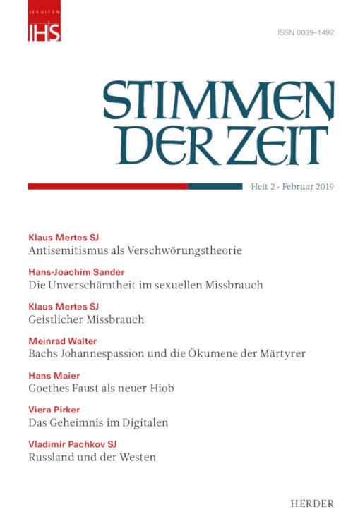 Cover Stimmen der Zeit 02/2019