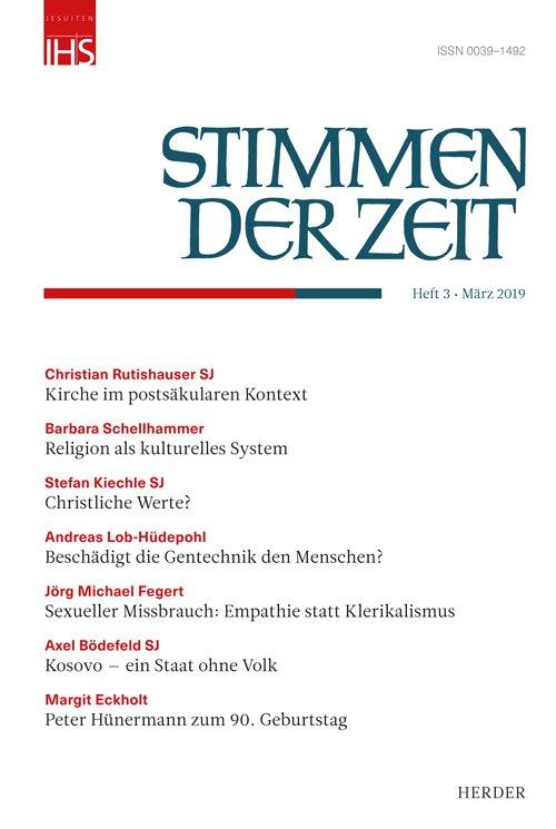 Cover Stimmen der Zeit 03/2019