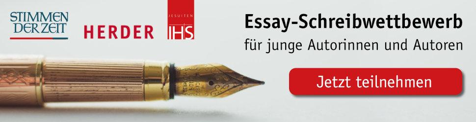 Anzeige: Schreibwettbewerb der Stimmen der Zeit