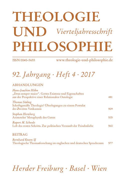 Theologie und Philosophie. Vierteljahresschrift 92 (2017) Heft 4