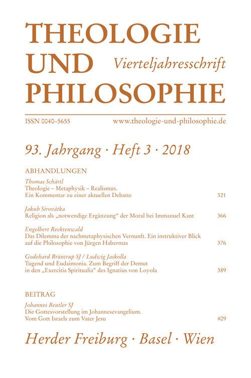 Theologie und Philosophie. Vierteljahresschrift 93 (2018) Heft 3