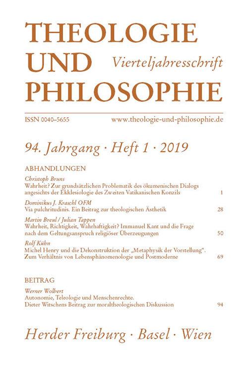 Theologie und Philosophie 1/2019