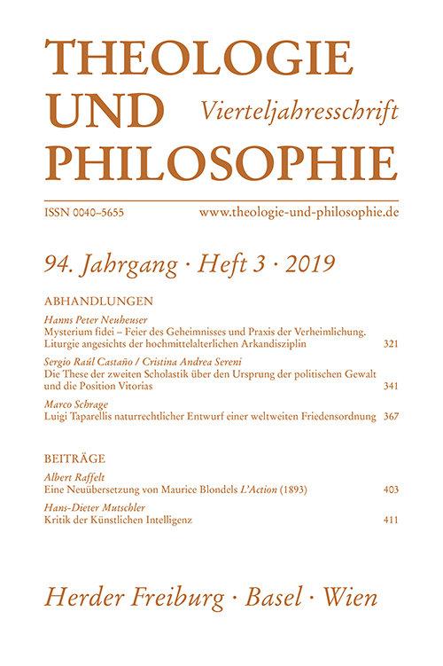 Theologie und Philosophie 3/2019