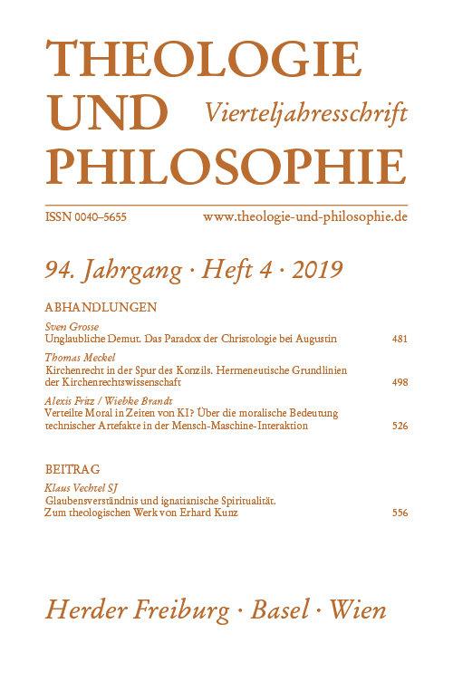 Theologie und Philosophie 4/2019