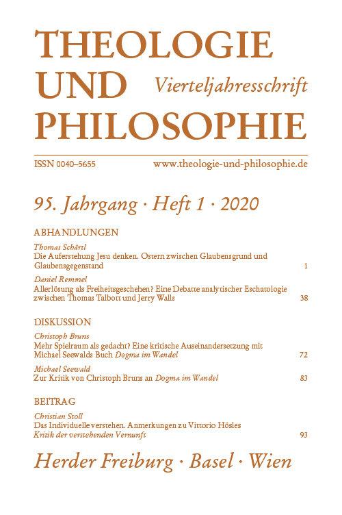 Theologie und Philosophie 1/2020