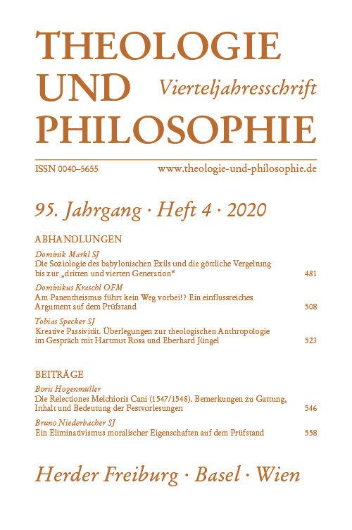 Theologie und Philosophie 4/2021